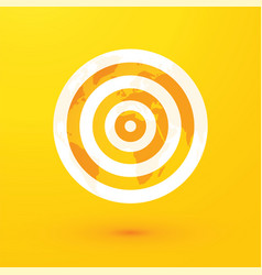 target and yellow world map vector image