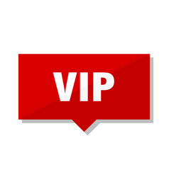 Vip red tag vector