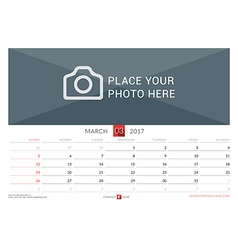 Wall Monthly Calendar for 2017 Year Design Print vector