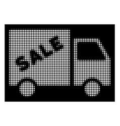 white halftone sale van icon vector image