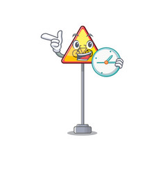 With clock no cycling character shaped a mascot vector