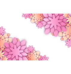 with paper cut flowers and place for text trendy vector image