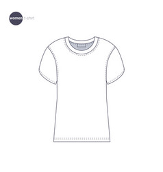 Women t-shirt clothes icons vector