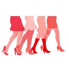 Womens duotone legs vector