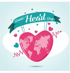 world heart day vector image