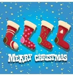 cartoon cute christmas stocking or socks vector image