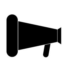 loud speaker or megaphone the black color icon vector image