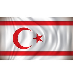 Flag of Northern Cyprus vector image vector image