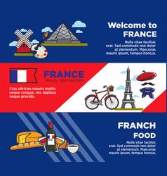 france travel destination advertisement banners vector image