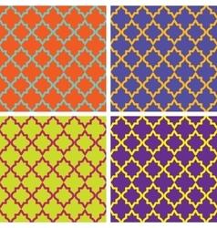 Seamless vintage patterns vector image