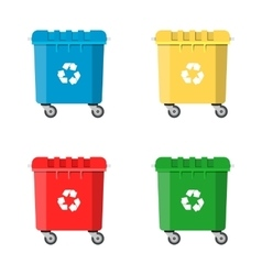 Set recycle bins for trash and garbage vector