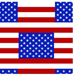usa flag seamless pattern vector image vector image