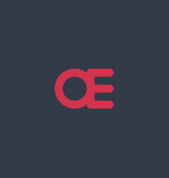 abstract initial letter ae or oe logo concept vector image vector image