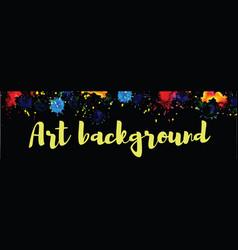 art background watercolor vector image