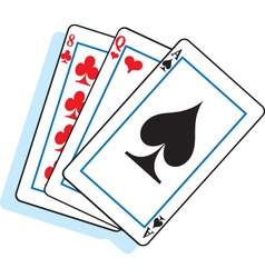 Cartoon Playing Cards vector image vector image