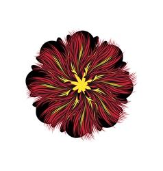Decorative floral pattern motif flower vector image vector image