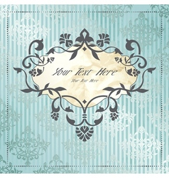 Elegant label in silver and blue vector image vector image