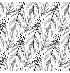 large black fluffy feathers diagonal pattern with vector image