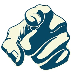 Pointing forefinger vector image vector image