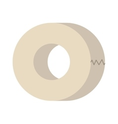 Roll of white insulating tape isolated on a vector image