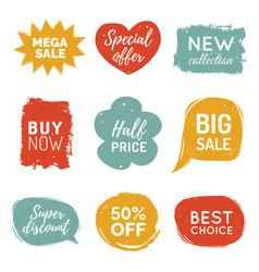set of comic speech bubbles sale stickers vector image vector image
