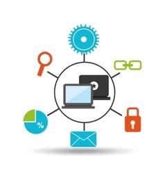 technology social media concept vector image