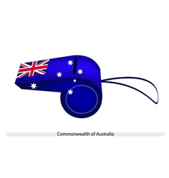 A Beautiful Blue Whistle of Australia Flag vector image vector image