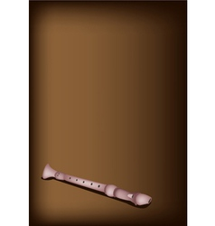 A Musical Recorder on Dark Brown Background vector image vector image
