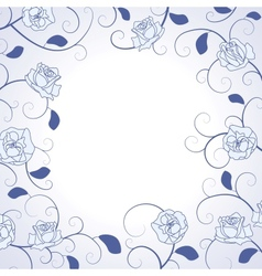 Decorative Roses Frame vector image