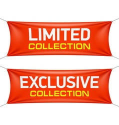 Limited and exclusive collection banners vector image vector image
