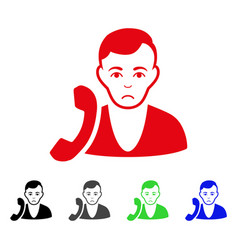 sad receptionist icon vector image vector image