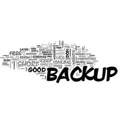 web site backup essentials that you should live vector image