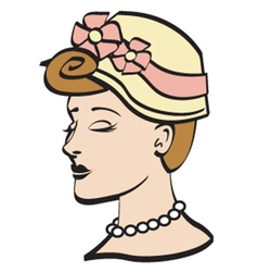 Woman wearing a bonnet vector image vector image