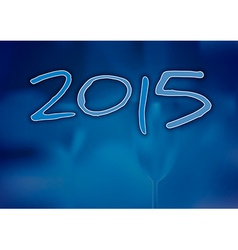 2015 Blue Year vector image