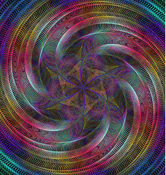 Abstract shiny fractal spiral design background vector image