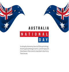 Australia national day template design vector