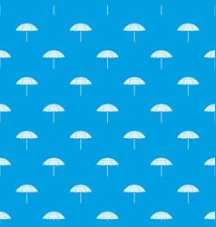 Beach umbrella pattern seamless blue vector