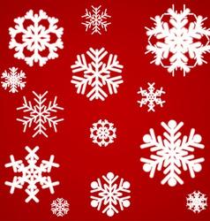 Beautiful luminous snowflakes vector