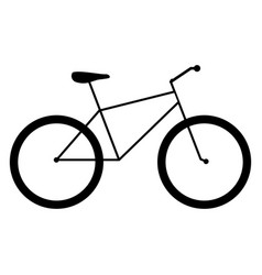 bicycle the black color icon vector image