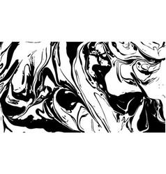 Black and white liquid texture distress vector