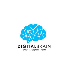 Brain hub logo design brain connection logo vector