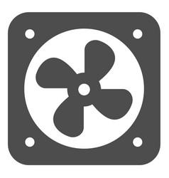Car fan cooling solid icon radiator fan vector