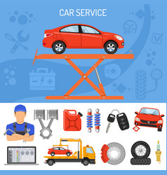 car service banner vector image