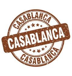 Casablanca brown grunge round vintage rubber stamp vector