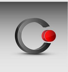 Circle shaped red and gray logo vector