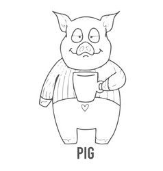 Coloring page for preschool children learn vector