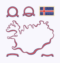 colors iceland vector image