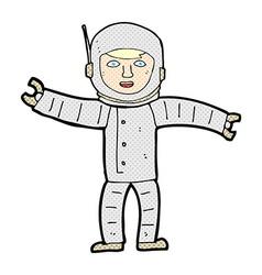 Comic cartoon space man vector