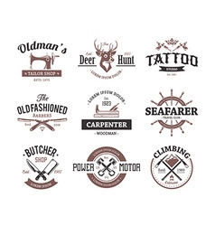 Craft Retro Emblems vector image