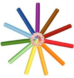 crayons circle vector image